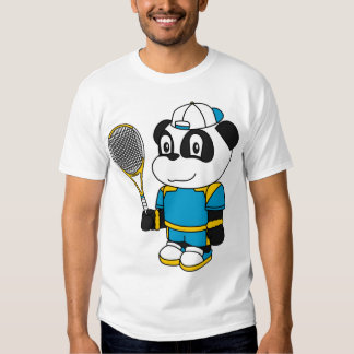 Panda - Tennis Player Tee Shirt