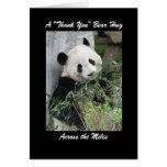 Panda  Thank You Bear Hug Across the Miles Card