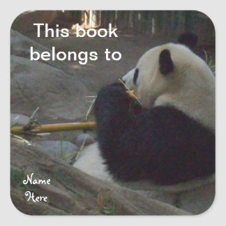 Panda This Book Belongs To, Bookplate Sticker