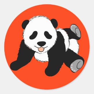 Panda tonta pegatina redonda
