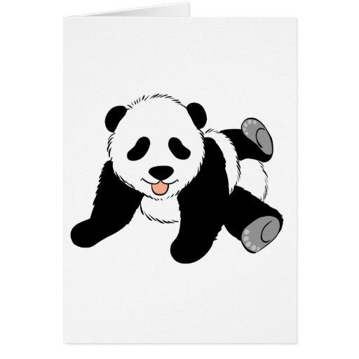 Panda tonta tarjeta de felicitación
