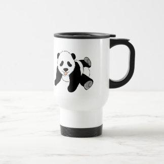 Panda tonta taza de café