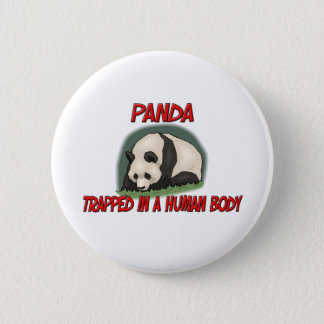 Panda trapped in a human body button