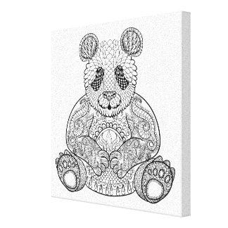 Panda tribal inspirada 6 impresión en lona estirada