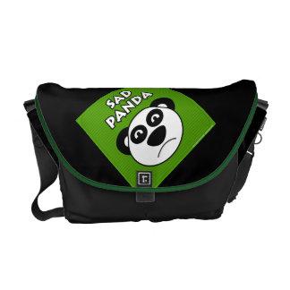 Panda triste bolsas de mensajeria