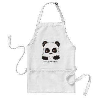 Panda triste delantales