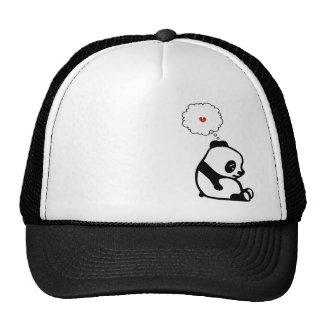 Panda triste gorras