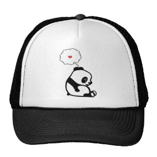 Panda triste gorro de camionero