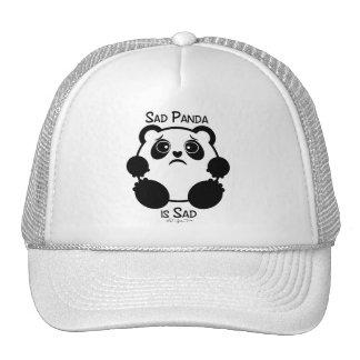 Panda triste gorros bordados