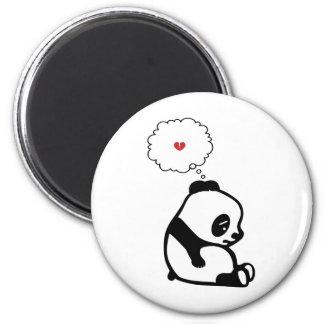 Panda triste imán de nevera
