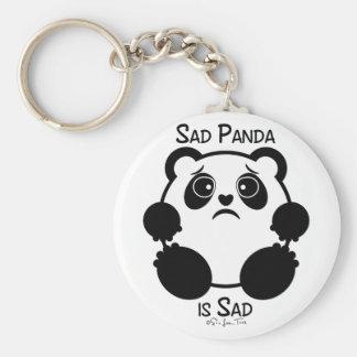 Panda triste llavero redondo tipo pin