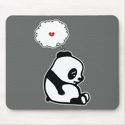 Panda triste mouse pad