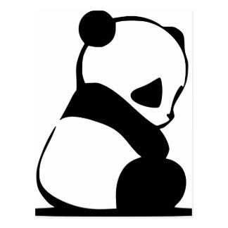 Panda triste - oso de panda lindo del bebé postales