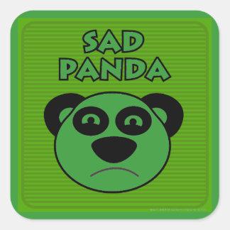Panda triste pegatinas cuadradas