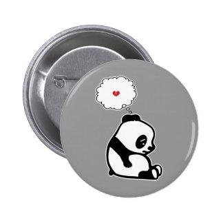 Panda triste pin redondo de 2 pulgadas