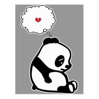 Panda triste postal