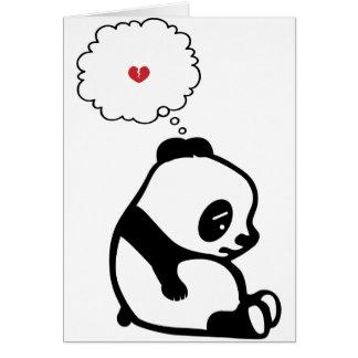 Panda triste tarjeta de felicitación