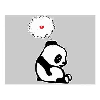 Panda triste tarjeta postal