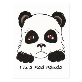 Panda triste tarjetas postales