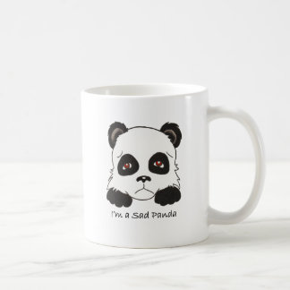 Panda triste tazas