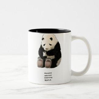 panda trivia Two-Tone coffee mug