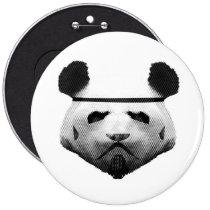 panda, trooper, geek, humor, cool, funny, panda trooper, animal, bizarre, nerd, bear, fun, college, graphic art, creative, Button with custom graphic design