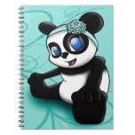 Panda Turquoise Floral Notebook Note Books