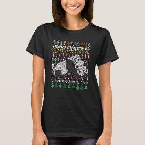 Panda Ugly Christmas Sweater Wildlife Series After Christmas Sales 5407
