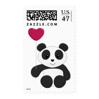 Panda Valentine Postage Stamp