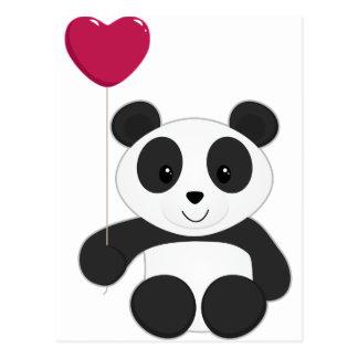 Panda Valentine Postcard