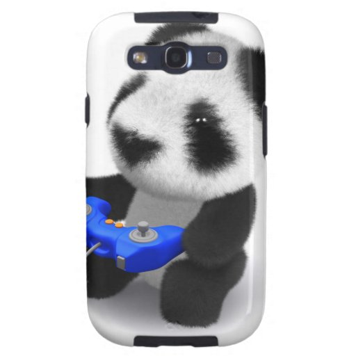 panda Videogamer del bebé 3d Galaxy SIII Coberturas