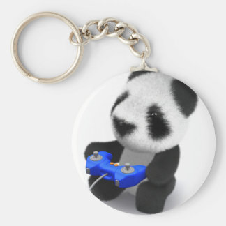 panda Videogamer del bebé 3d Llaveros