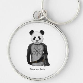 Panda Viking Helm Of Awe Keychain