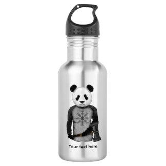 Panda Viking Helm Of Awe Stainless Steel Water Bottle