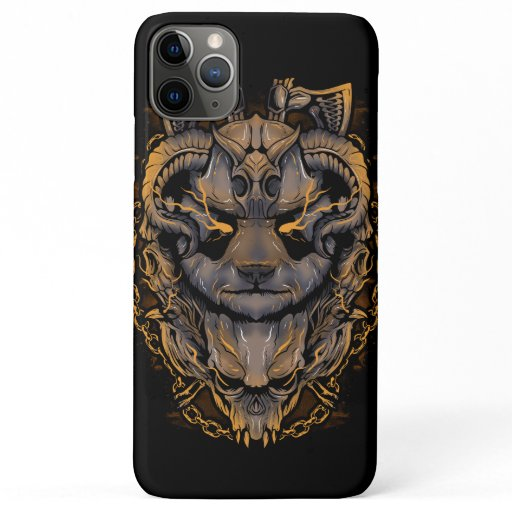Panda Viking Warrior iPhone 11 Pro Max Case