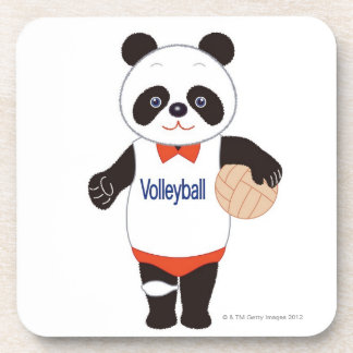 Panda Volleyball Player Coaster