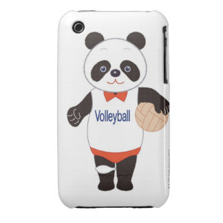Panda Volleyball Player iPhone 3 Case-Mate Case