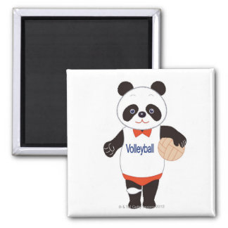 Panda Volleyball Player Fridge Magnets