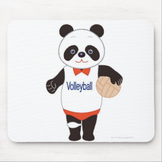 Panda Volleyball Player Mouse Pad