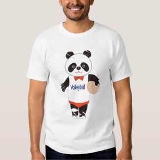 Panda Volleyball Player Tee Shirt