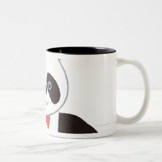 Panda Volleyball Player Two-Tone Coffee Mug