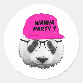 PANDA WANNA PARTY ? STICKER