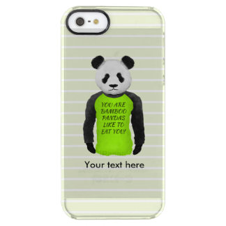 Panda Wearing A Funny Foodie T-shirt Clear iPhone SE/5/5s Case