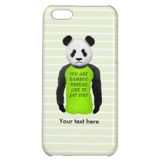 Panda Wearing A Funny Foodie T-shirt iPhone 5C Case