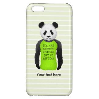 Panda Wearing A Funny Foodie T-shirt iPhone 5C Case