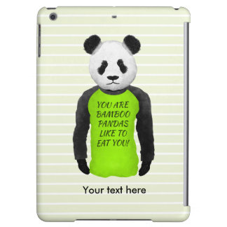 Panda Wearing A Funny T-shirt Cover For iPad Air