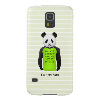 Panda Wearing A Funny T-shirt Galaxy S5 Case