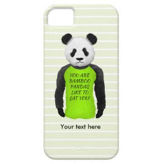 Panda Wearing A Funny T-shirt iPhone SE/5/5s Case