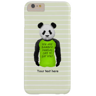 Panda Wearing A Funny Warning T-shirt Barely There iPhone 6 Plus Case
