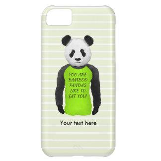 Panda Wearing A Funny Warning T-shirt iPhone 5C Covers